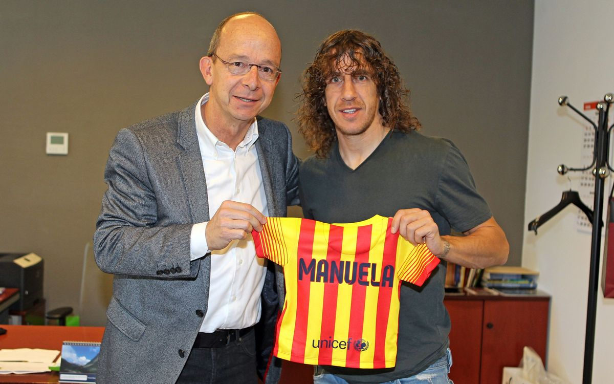 Carles Puyol makes daughter Manuela a member