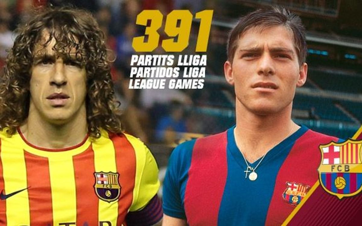 Carles Puyol equals Migueli with 391 league games