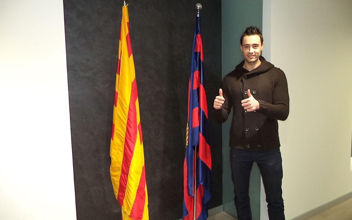 Paco Sedano renova amb el Barça Alusport fins al juny del 2016