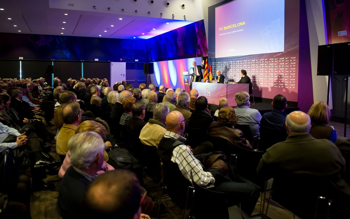 More than 300 Club members attend the first New Espai Barça presentation
