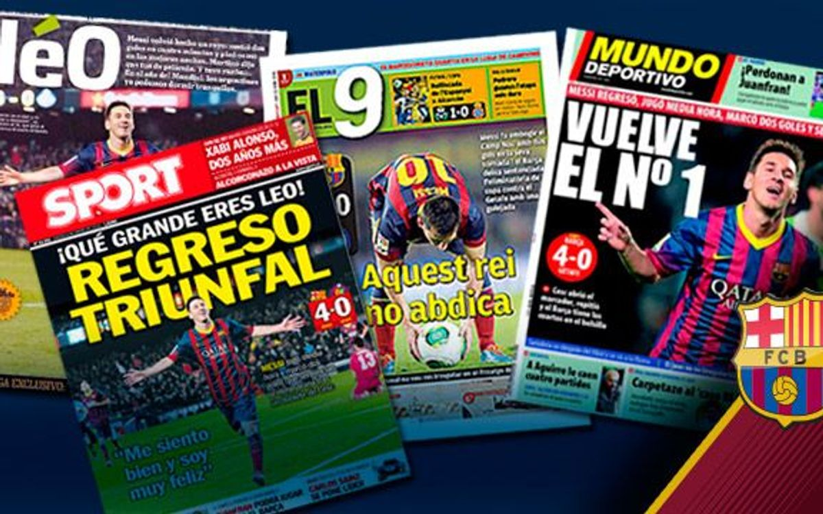 Leo Messi salué par la presse internationale