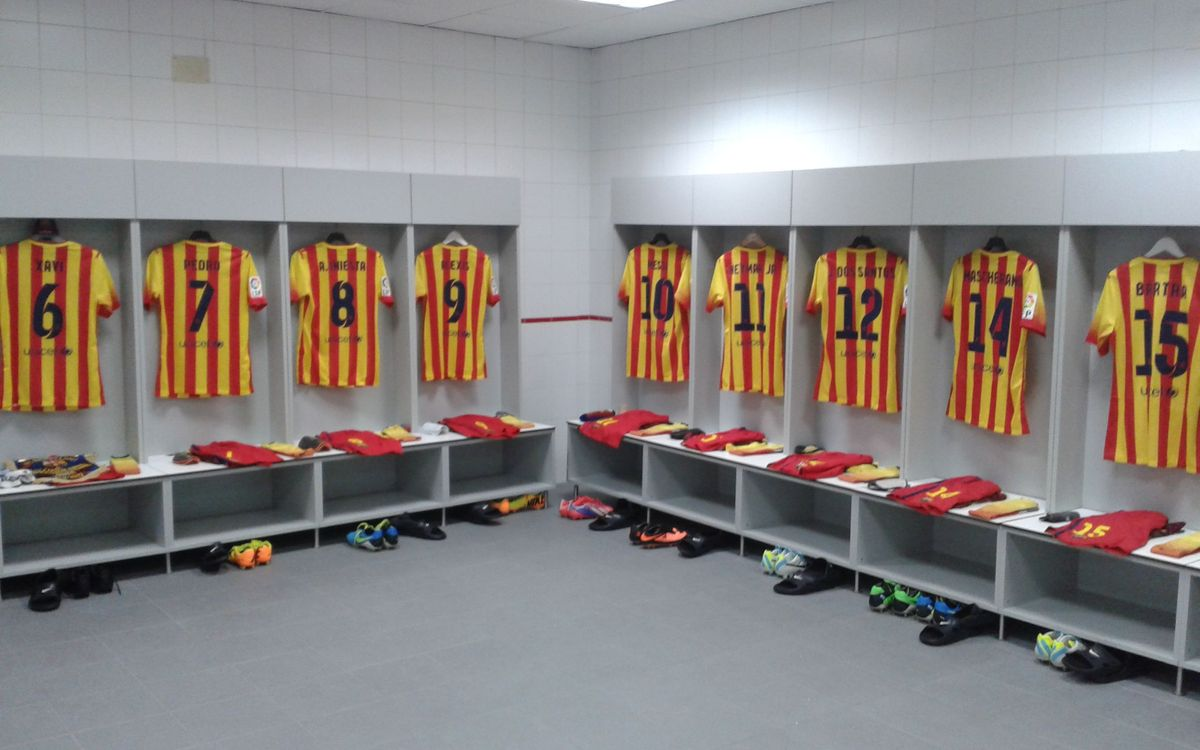 Inside the dressing room at the Sánchez Pizjuán