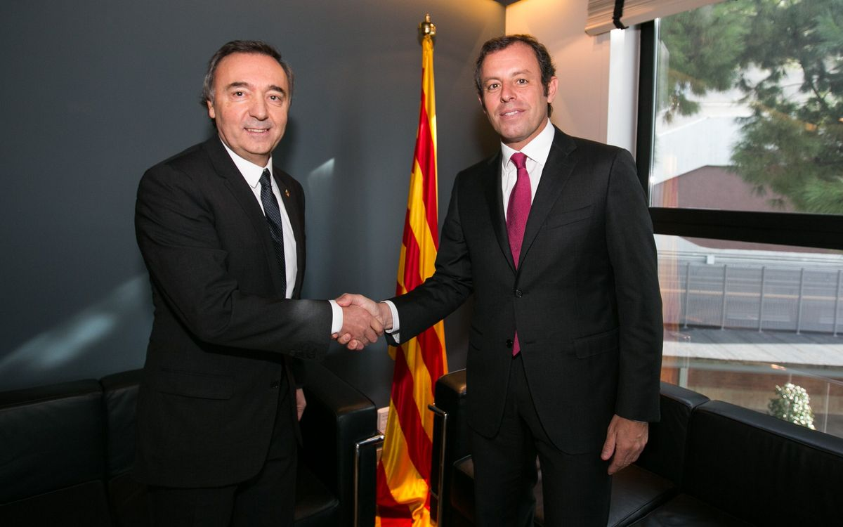 El FC Barcelona formalitza la signatura de l'acord d'intercanvi amb el Comú d'Encamp