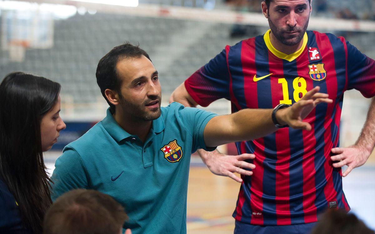 Triomf del vòlei masculí del Barça davant el CV Leganés (3-1)