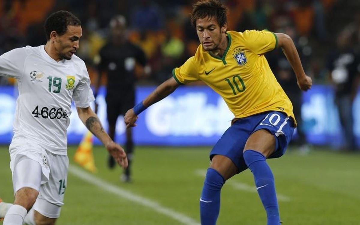 Exhibició i hat-trick de Neymar a Johannesburg (0-5)