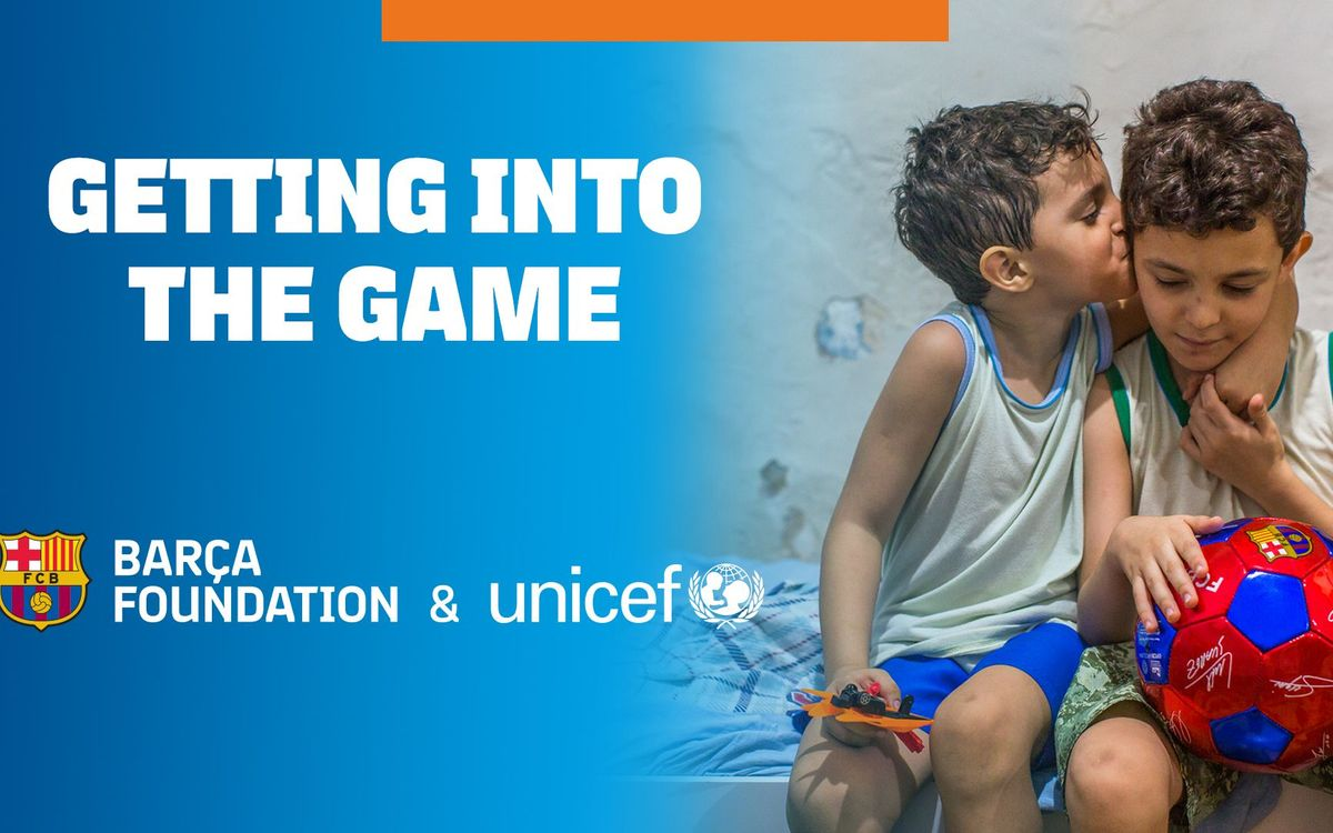 Image result for UNICEF and Barca Foundation