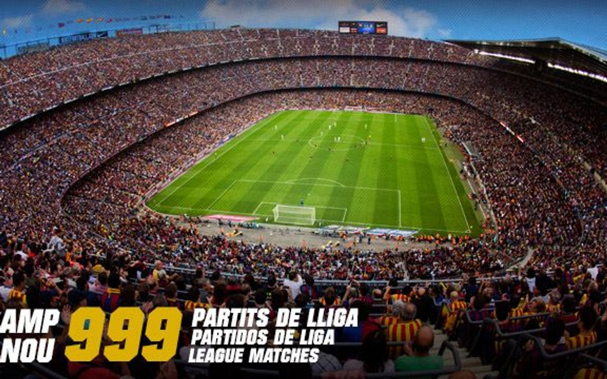999 league games at the Camp Nou