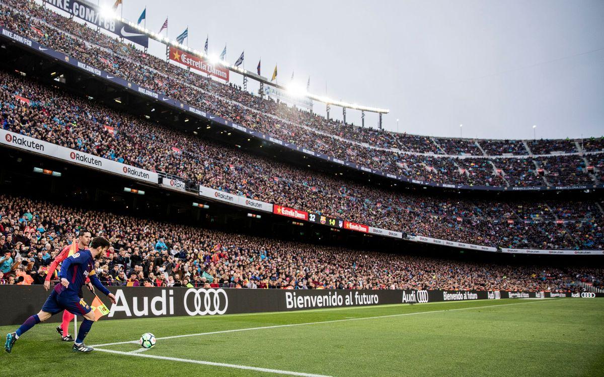 Invitaciones para el partido contra el Atlético para los socis no abonados