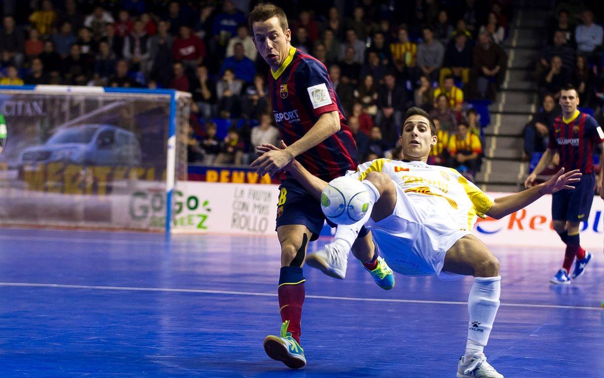 FC Barcelona Alusport – Marfil Santa Coloma: First defeat at the Palau Blaugrana this season (4-6)