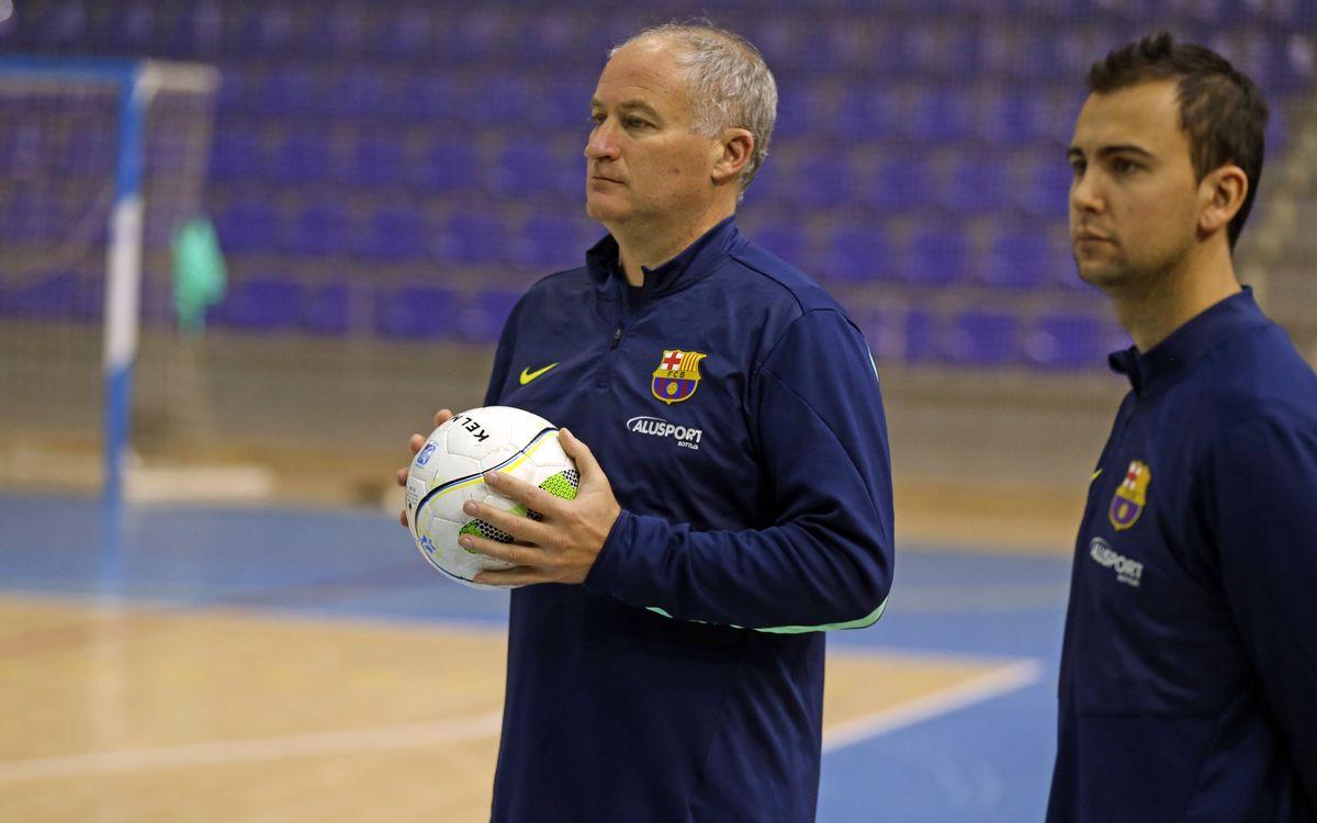 Els jugadors del Barça Alusport tornen a entrenar-se