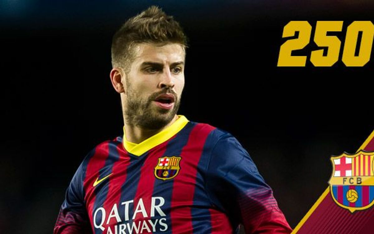 Gerard Piqué approaching 250 games for FC Barcelona