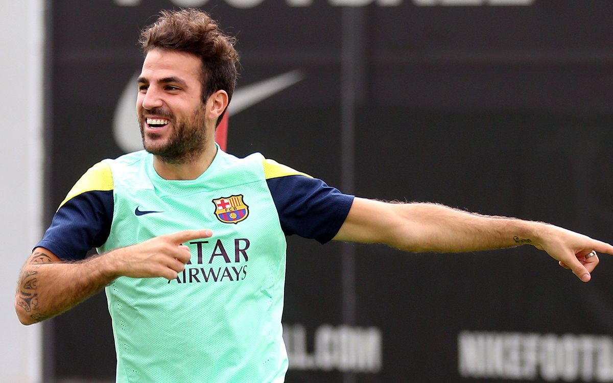 An FC Barcelona training session with Cesc Fàbregas