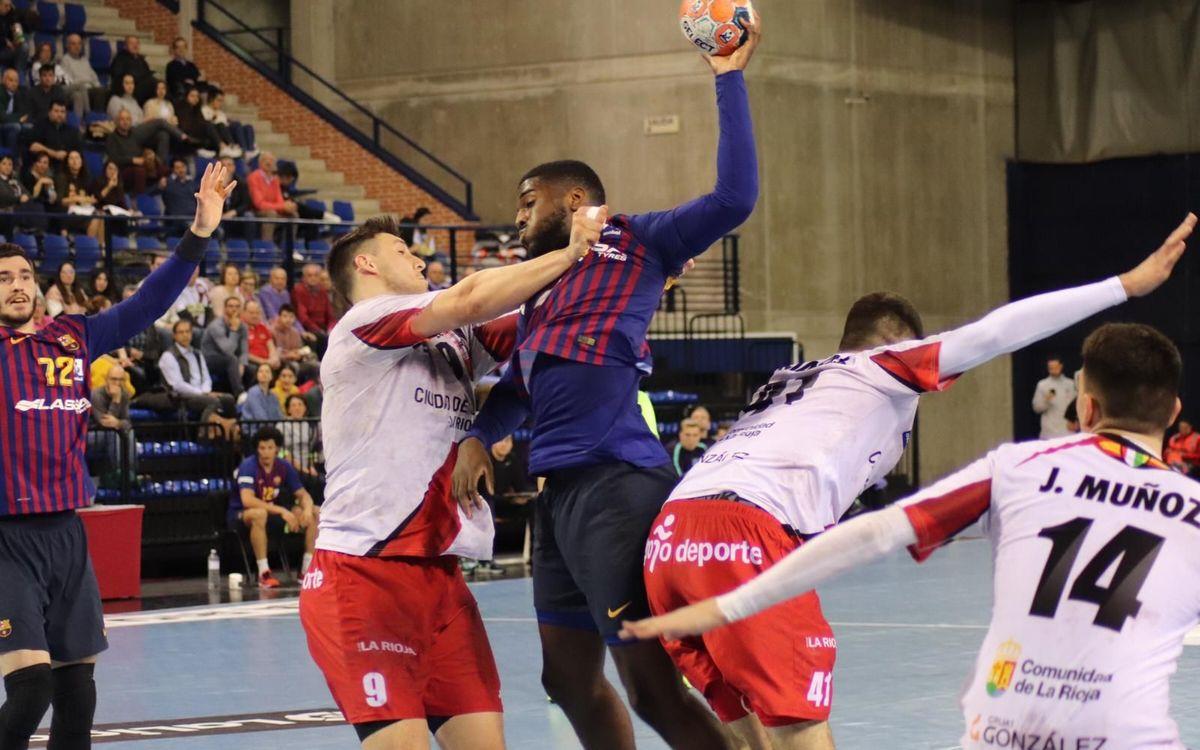 BM Logroño La Rioja - Barça Lassa: El campeón deja escapar el primer punto de la temporada (28-28)