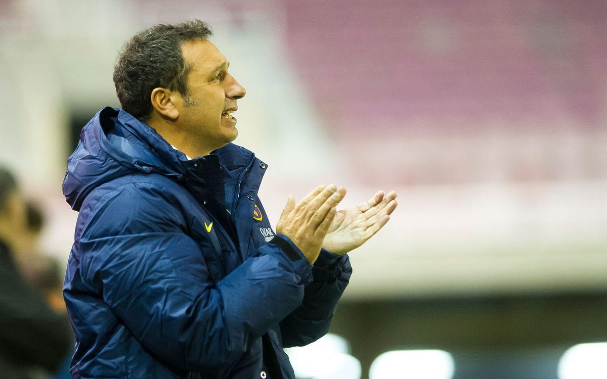 """Eusebio: """"El rendiment de l'equip creix dia rere dia"""""""