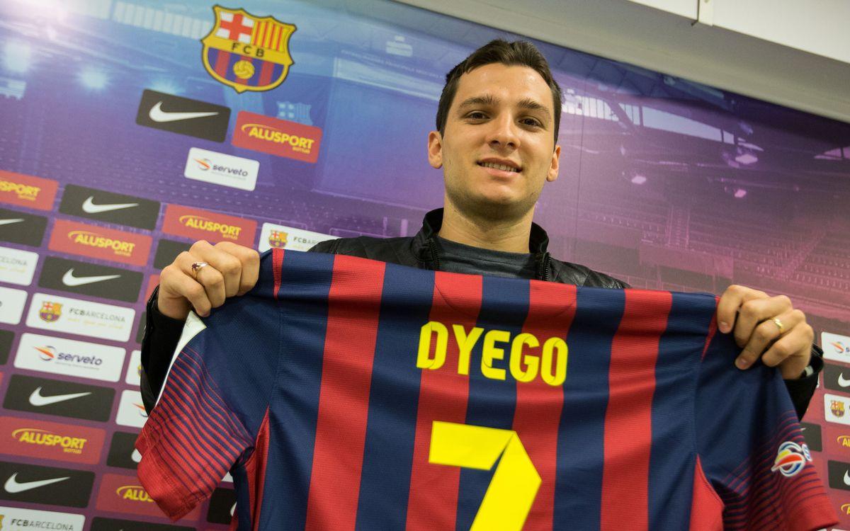 Dyego, la nova incorporació blaugrana, podrà debutar davant el Marfil Santa Coloma
