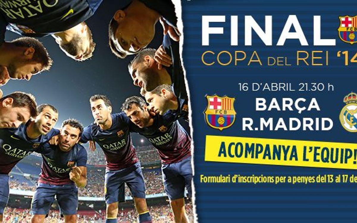 Entrades per a la Final de Copa: sol•licituds a partir del 13 de març