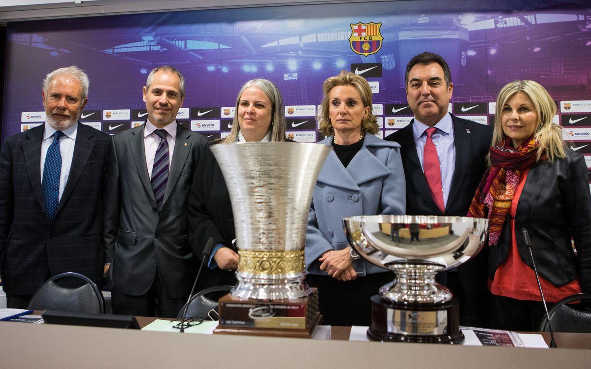 La Copa del Rei d'hoquei gel a la Pista de Gel del FC Barcelona