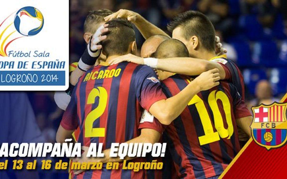 Ya se pueden adquirir las entradas para animar al Barça Alusport en la Copa de España