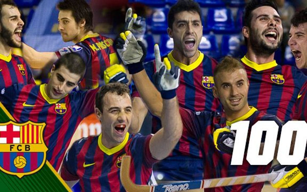FC Barcelona's 100 goals scored so far this season in the OK Lliga