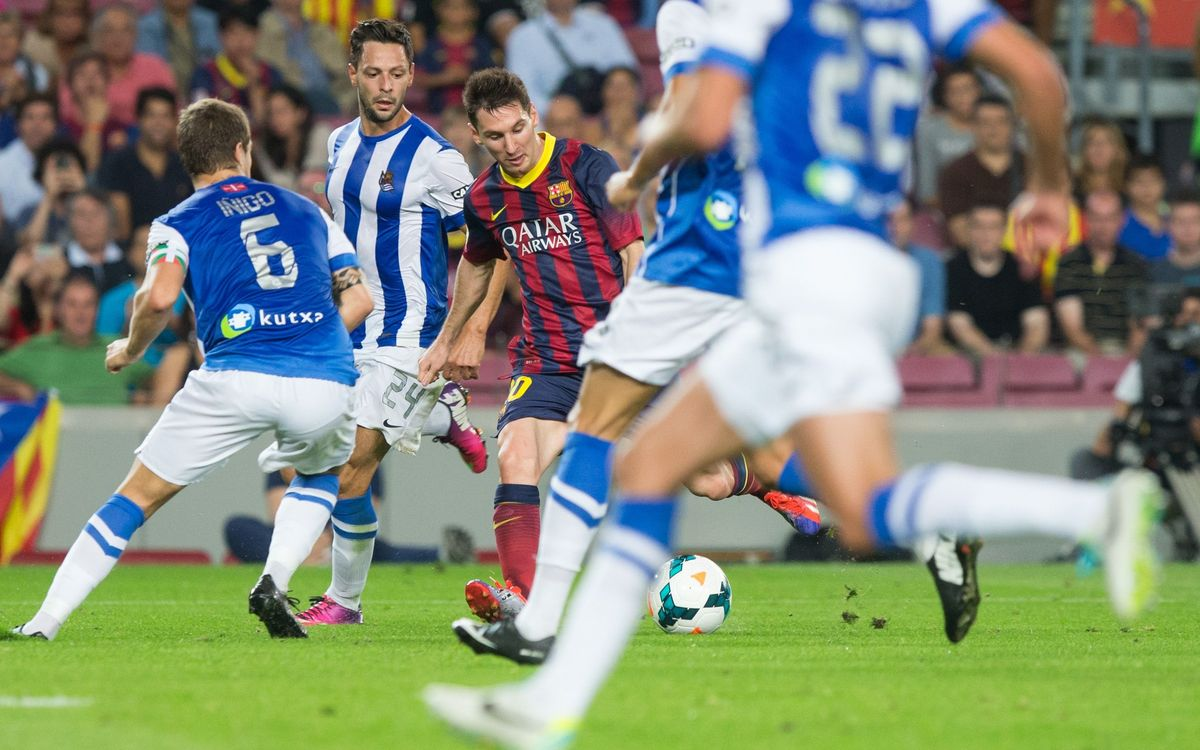 Statistics favour FC Barcelona for Anoeta visit