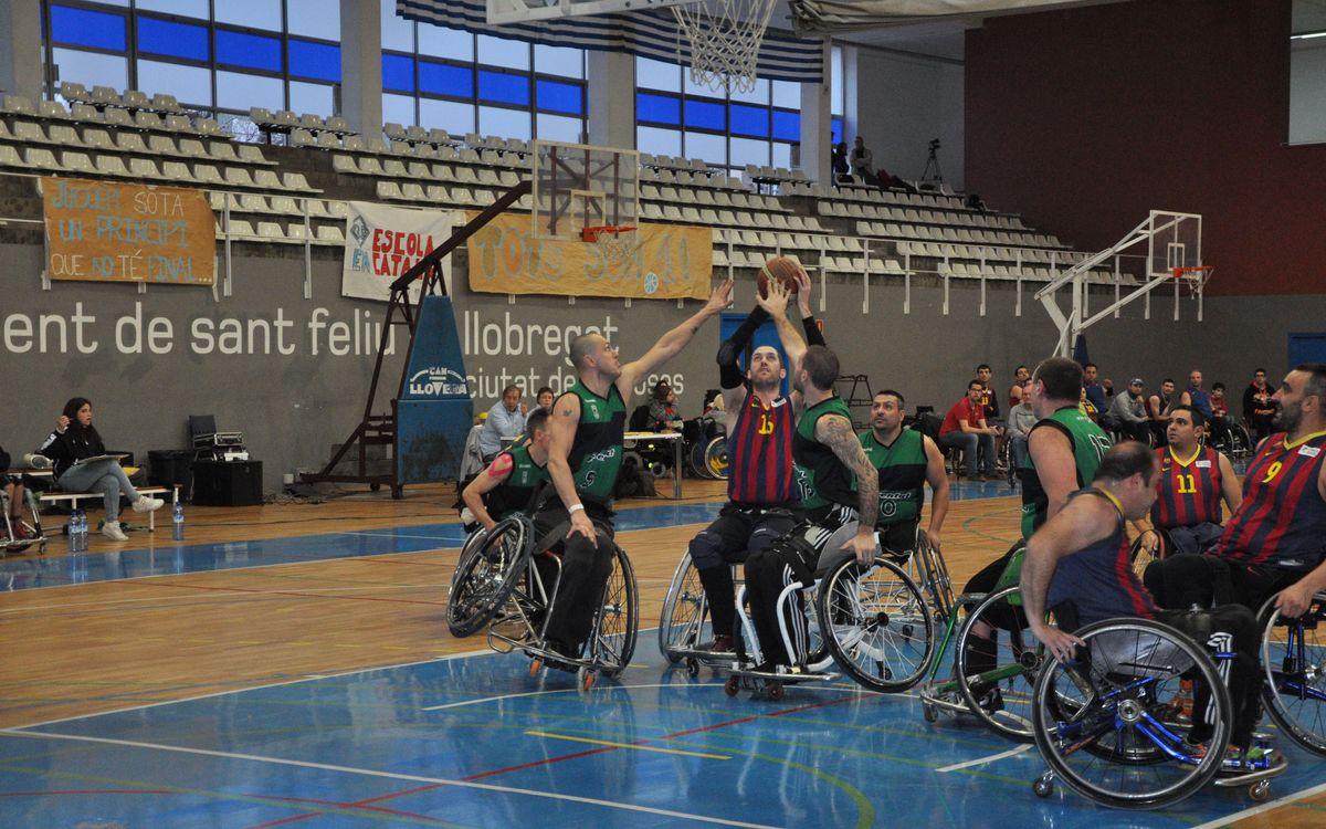 Millora del bàsquet en cadira de rodes blaugrana, malgrat la derrota amb el Joventut (47-52)