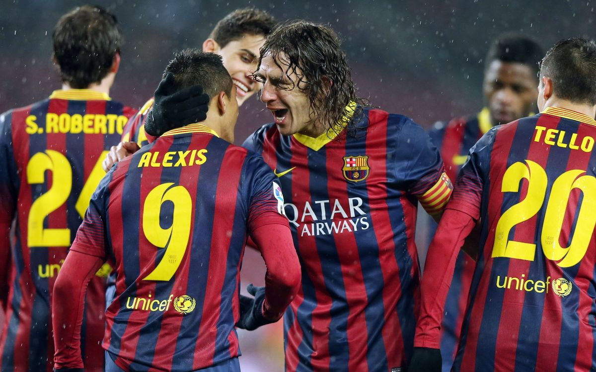 Puyol scores again, one year later