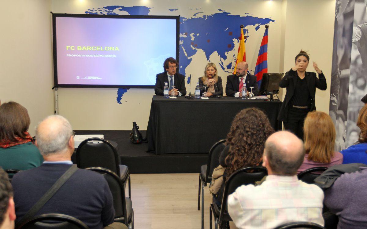 La Proposta del Nou Espai Barça, compartida amb experts en matèria d'accessibilitat
