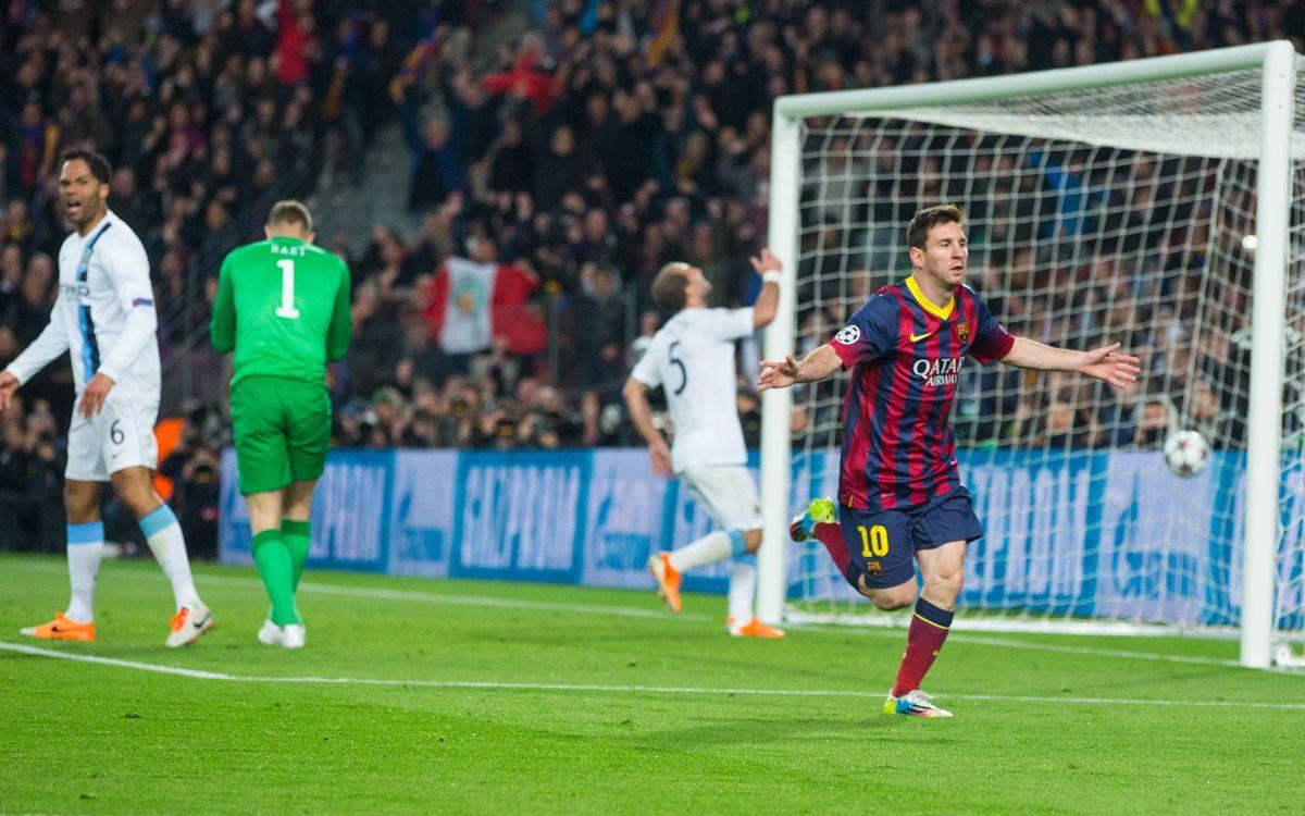 FC Barcelona - Manchester City FC: Back on track! (2-1)