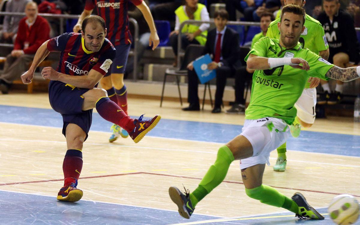 El Barça Alusport rep el líder de l'LNFS