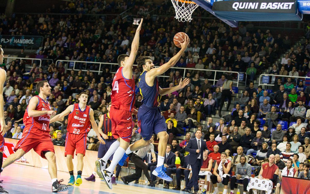 FC Barcelona – Estudiantes: Estan en un bon moment (73-56)