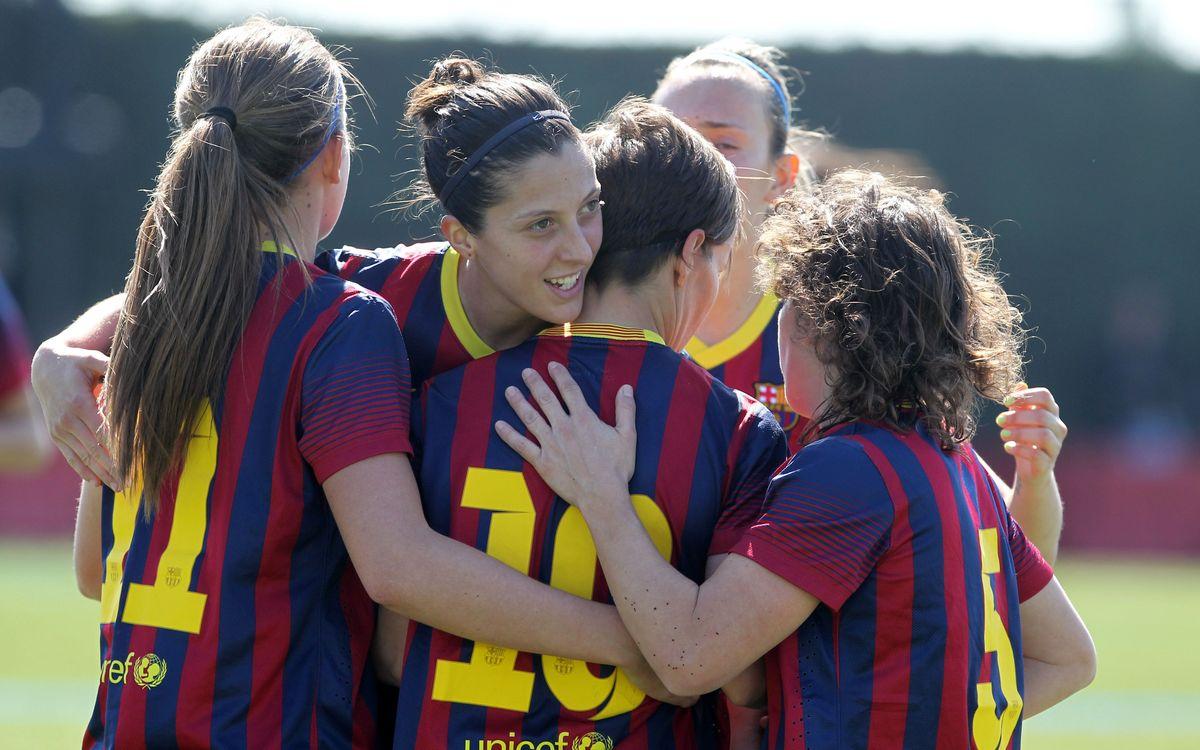FC Barcelona – Llevant Les Planes: Soni lidera el triomf (4-0)