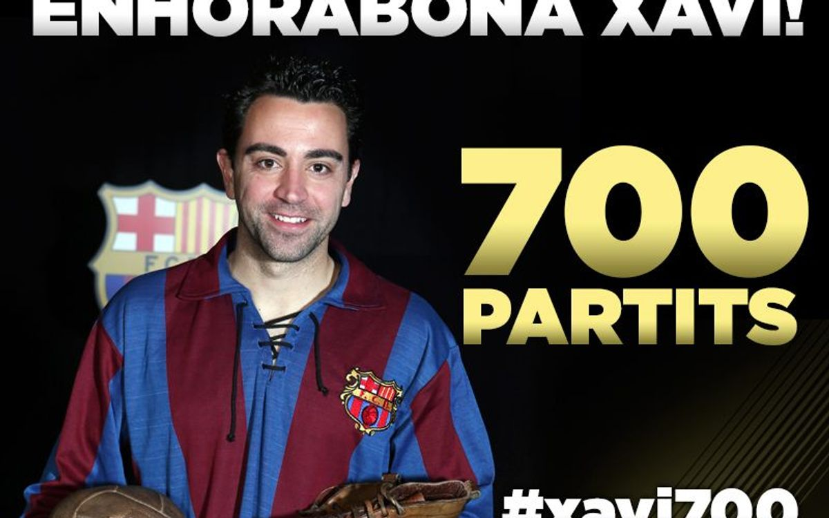 Xavi to be honoured for his 700 competitive matches for FC Barcelona