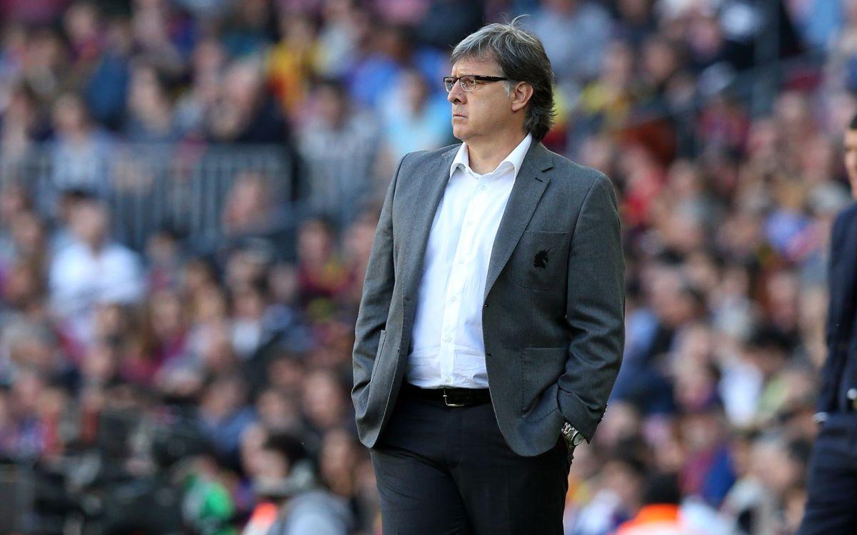 """Tata Martino: """"No tinc cap dubte de com hem de jugar al Bernabéu"""""""