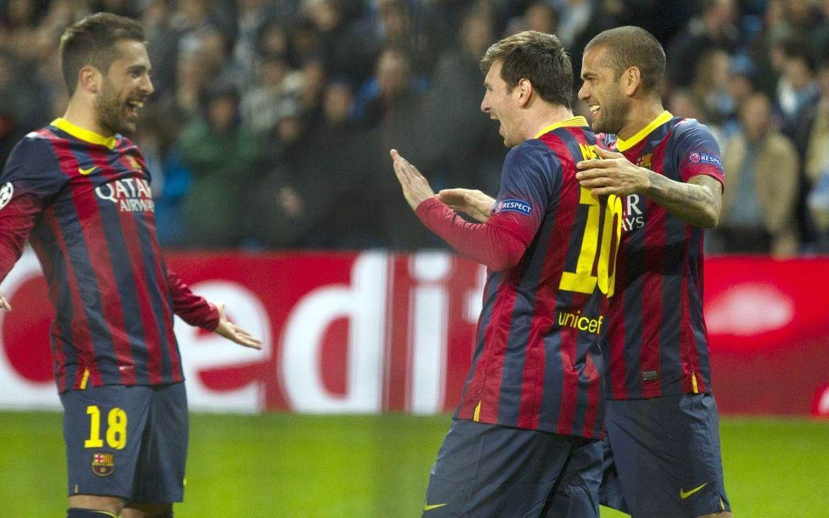 マンチェスターシティ対FCバルセロナ戦ウォールペーパー