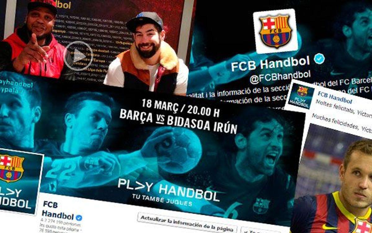 El Barça d'handbol, líder també a les xarxes socials