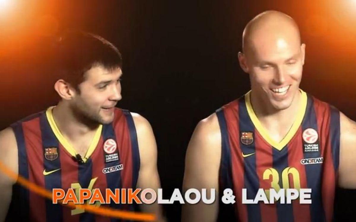 Papanikolaou i Lampe s'atreveixen amb l'himne de l'Eurolliga