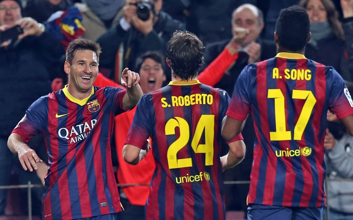 Messi returns after a two-month hiatus and scores a brace