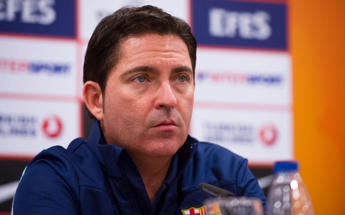 """Xavi Pascual: """"Guanyar aquest partit ens fa feliços"""""""