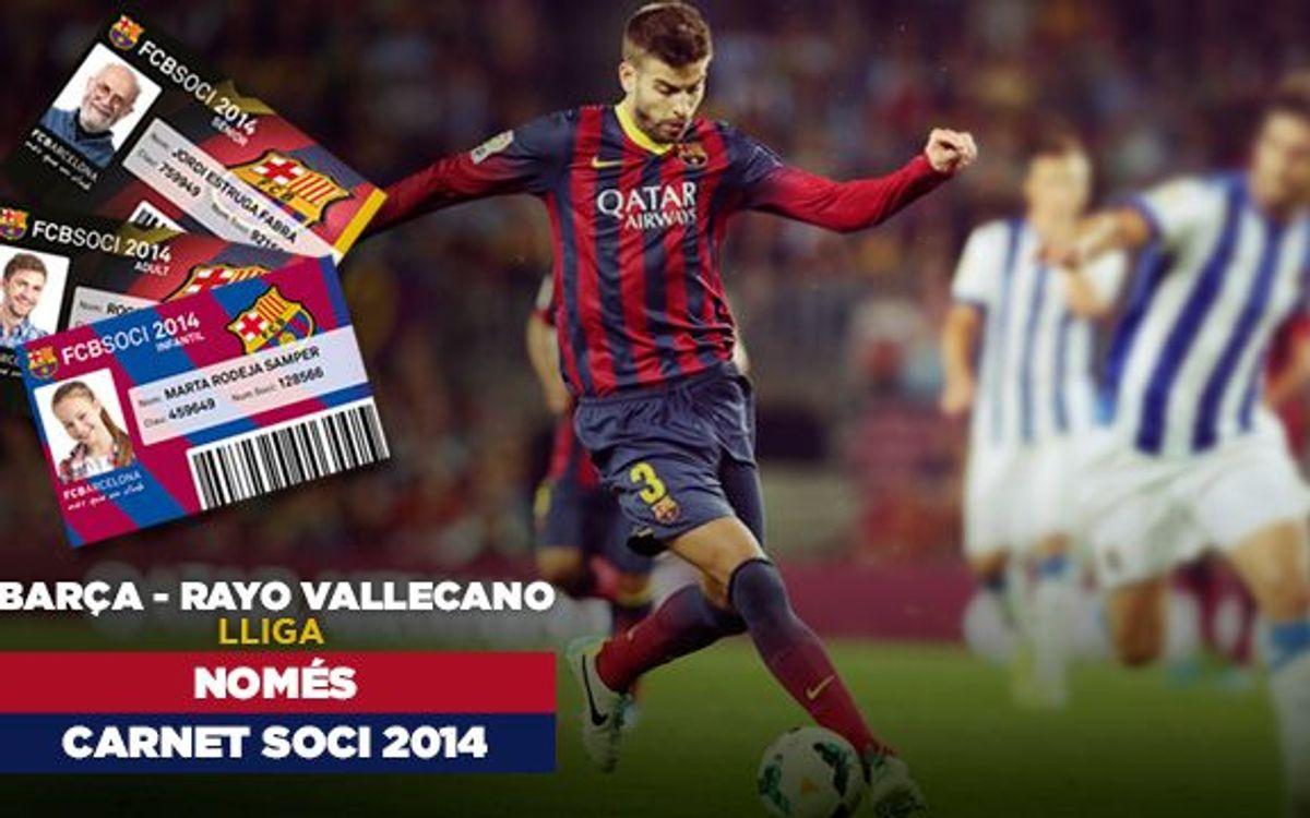 El carnet de soci del 2014, obligatori per al Barça-Rayo
