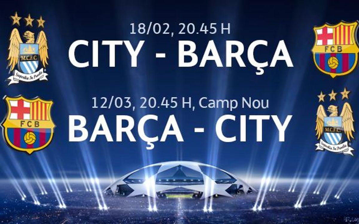 Manchester City – Barça, sol•licituds a partir del 27 de gener
