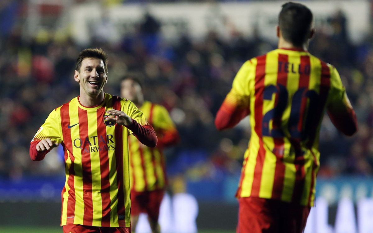 Facts and figures from Levante game -first hat trick of assists for Messi