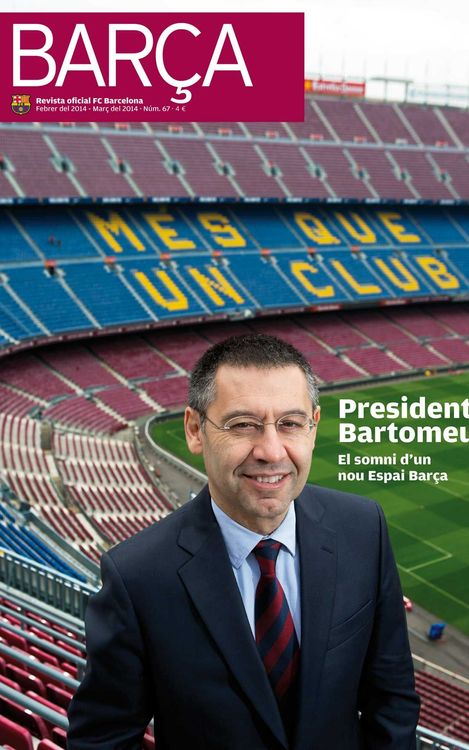 El estreno del presidente Bartomeu, portada de la REVISTA BARÇA