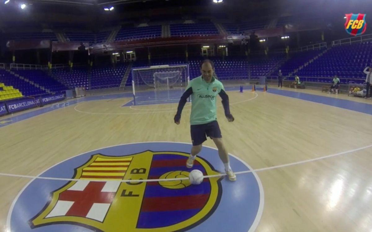 L'entrenament del Barça Alusport vist pels seus protagonistes
