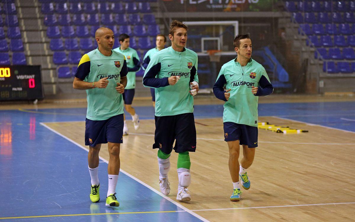 Primer entrenament després de la Copa d'Espanya