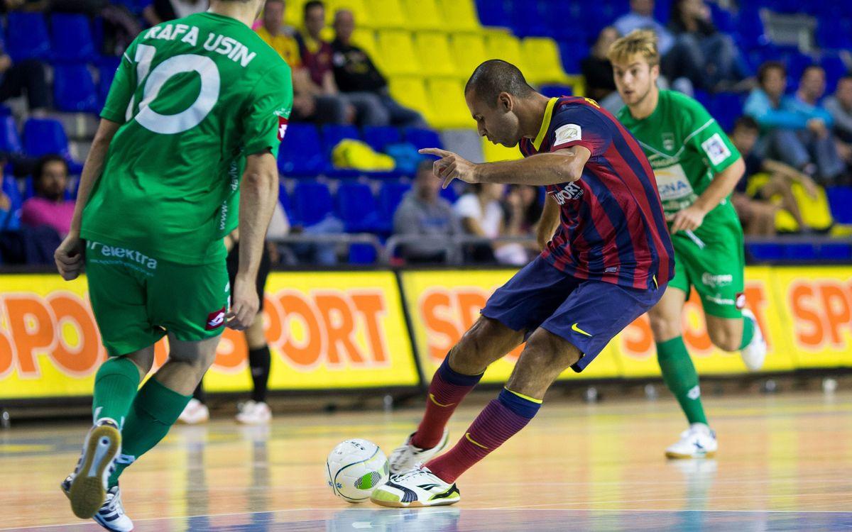 El Barça Aluport torna a tenir l'olfacte de gol de sempre