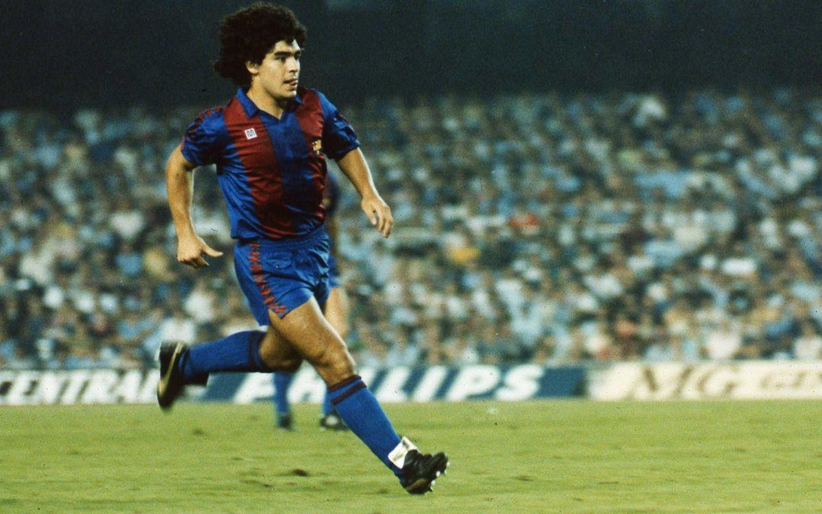 Maradona, azulgrana del 1982 al 1984. FOTO: ARCHIVO FCB