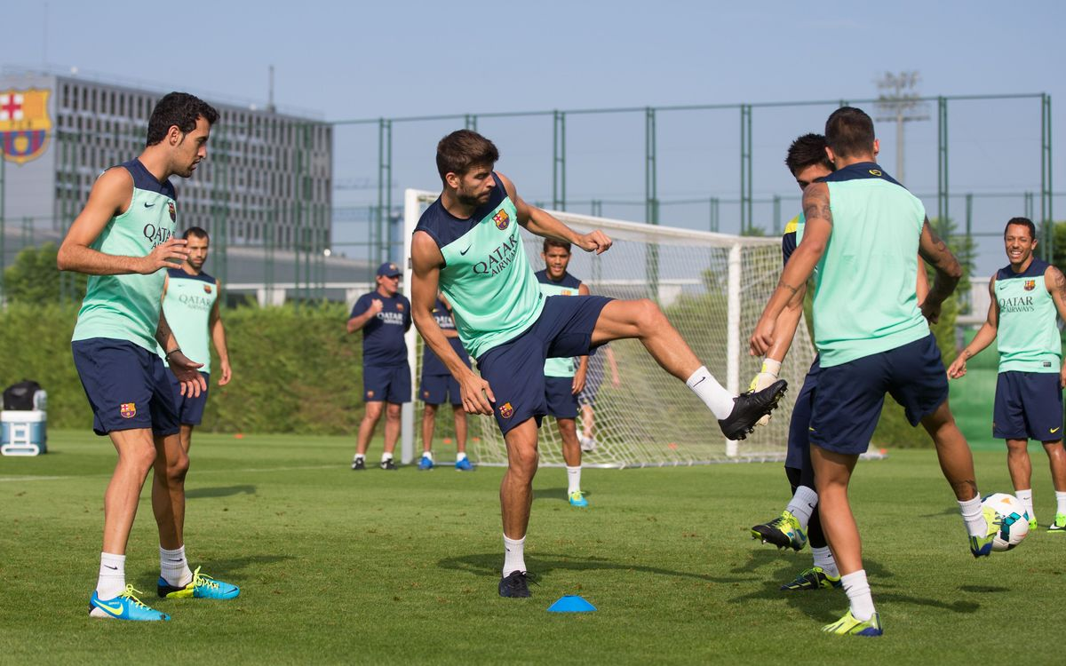 Sergio Busquets back training with squad