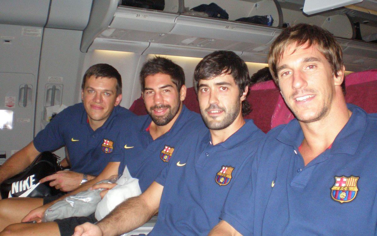 El FC Barcelona d'handbol ja és a Doha