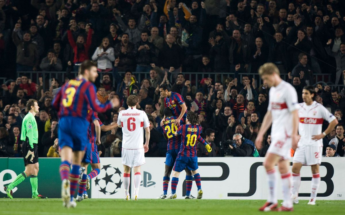Ten consecutive victories against German teams at the Camp Nou