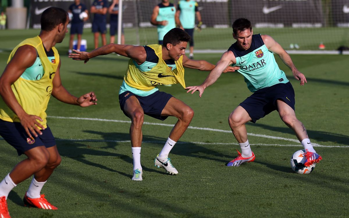 FC Barcelona complete two training sessions this Monday